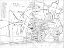 YORKS: Hull town plan, 1874 map